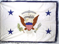OFFICIAL 1987 VICE PRESIDENTIAL FLAG OF GEORGE H. W. BUSH. P Prior to serving as President, of course Bush served two te...