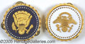Political:3D & Other Display (1896-present), OFFICIAL VICE PRESIDENTIAL SERVICE BADGES. Large, massive and ex...