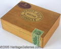"""Political:3D & Other Display (1896-present), WOODEN """"ROYAL WEDDING SELECTION"""" CIGAR BOX FORMERLY OWNED BY SIR..."""