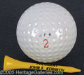 Political:3D & Other Display (1896-present), JFK PERSONALLY-OWNED CUSTOM GOLF BALL AND TEE. JFK was an avi...