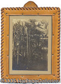 Photography:Cabinet Photos, CABINET CARD OF SADDLE SHOP INTERIOR. Cabinet card of interio...