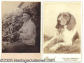 Photography:Cabinet Photos, CABINET CARD PHOTOS OF HUNTING DOGS. PAIR OF CABINET CARDS OF HU...