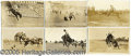 Miscellaneous:Postcards, 11 REAL PHOTO POSTCARDS OF RODEO RIDERS. SET OF ELEVEN REAL PHOT...