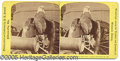 Photography:Stereo Cards, STEREOVIEW OF OLD ABE WAR EAGLE ON YELLOW MOUNT. STEREOVIEW OF O...
