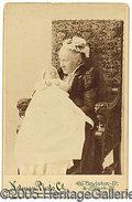 """Photography:Cabinet Photos, RARE JULIA WARD HOWE SIGNED CABINET PHOTO (AUTHOR OF THE """"BATTLE..."""