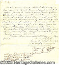 Antiques:Black Americana, SLAVE SALE INCLUDING THE SALE OF TWINS. This piece is an 1852 ag...