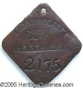 """Antiques:Black Americana, 1860-DATED CHARLESTON SLAVE TAG, """"SERVANT"""". Later-dated examples..."""