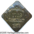 "Antiques:Black Americana, 1833-DATED CHARLESTON SLAVE TAG, ""SERVANT"". Excellent condition ..."