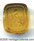 Antiques:Black Americana, RARE ANTI-SLAVERY INTAGLIO LETTER SEAL. An unmounted seal in amb...