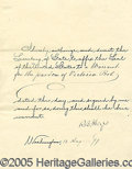Autographs:U.S. Presidents, RUTHERFORD B. HAYES SIGNED PARDON. Hayes, Ru...
