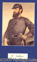"""Autographs:Military Figures, EXAMPLE OF """"STONEWALL"""" JACKSON'S HANDWRITING. Only two words,..."""