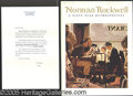 Autographs:Authors, NORMAN ROCKWELL AUTOGRAPHED BOOK. In his noted 1972 publication,...