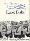"Autographs:Celebrities, EUBIE BLAKE PRESENTATION BOOK. Blake, James Hubert ""Eubie"". J..."