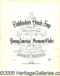 Political:Small Paper (pre-1896), JOHN FREMONT CAMPAIGN SHEET MUSIC. Large format sheet music f...