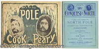 THE RACE TO THE NORTH POLE. Two items related to Cook and Peary's expeditions to the North Pole.  The first is...