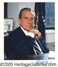 Autographs:U.S. Presidents, SIGNED NIXON PORTRAIT. Nixon, Richard Milhous (1913-1994). Th...