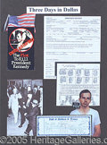 Autographs:Celebrities, COLORFUL JFK ASSASSINATION DISPLAY WITH JACK RUBY SIGNED CHECK. ...
