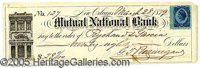 GENERAL BEAUREGARD SIGNED CHECK. Ultimately, P.G.T. Beauregard was one of only eight full generals in the Confederacy.&a...