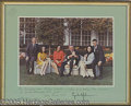 Autographs:U.S. Presidents, SCARCE JOHNSON FAMILY PRINT, INSCRIBED AND AUTOGRAPHED BY LBJ AN...