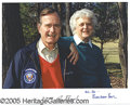 Autographs:U.S. Presidents, GEORGE AND BARBARA BUSH SIGNED PORTRAIT.