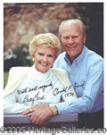 Autographs:U.S. Presidents, GERALD AND BETTY FORD SIGNED PORTRAIT. ...