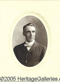 Photography:Studio Portraits, VERY RARE EARLY, C. 1882 ORIGINAL PHOTO OF WARREN HARDING. Taken...