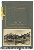 Political:Miscellaneous Political, RARE ALASKA VISIT PROGRAM FROM THE 1923 WESTERN TOUR ON WHICH HA...