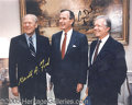 Autographs:U.S. Presidents, THREE PRESIDENTS SIGNED COLOR PORTRAIT. 8 x ...