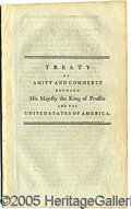 Military & Patriotic:Foreign Wars, 1785 PEACE TREATY WITH PRUSSIA. 34-page imprint...