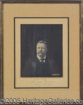 Autographs:U.S. Presidents, EXCEPTIONAL TEDDY ROOSEVELT AUTOGRAPHED PHOTO, WITH 1904 CAMPAIG...