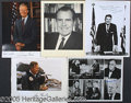 "Autographs:U.S. Presidents, SIX NICE AUTOGRAPHED PRESIDENTIAL PHOTOS. 1)  8 x 10"" bl..."
