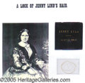 Entertainment Collectibles:Theatre, JENNY LIND HAIR. Lind, Jenny. Operatic and p...