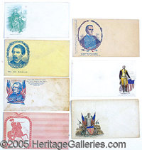 INTERESTING SELECTION OF CIVIL WAR COVERS. A very interesting selection of 28 Civil War related covers. Each envelope is...