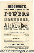 Antiques:Black Americana, ANTI-BLACK THEATRICAL HANDBILL. The 15th Amendment to the U.S. C...