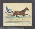 Antiques:Posters & Prints, CURRIER AND IVES TROTTING MARE FLORA TEMPLE. Two-stoned litho...