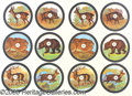 """Antiques:Posters & Prints, PAIR OF COLORFUL GERMAN HUNTING TARGETS. 17""""by 24"""" colo..."""
