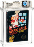 Video Games:Nintendo, Super Mario Bros. - Wata 6.5 CIB [Matte Sticker, First Production], NES Nintendo 1985 USA....