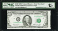 Misaligned Face Printing Error Fr. 2169-D $100 1981 Federal Reserve Note. PMG Choice Extremely Fine 45