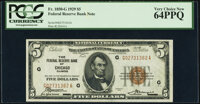 Fr. 1850-G $5 1929 Federal Reserve Bank Note. PCGS Very Choice New 64PPQ