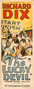 """Movie Posters:Comedy, The Lucky Devil (Paramount, 1925). Rolled, Fine/Very Fine. Insert (14"""" X 36"""").. ..."""