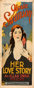 "Movie Posters:Drama, Her Love Story (Paramount, 1924). Fine+. Rolled Insert (14"" X 36"").. ..."