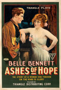 """Movie Posters:Western, Ashes of Hope (Triangle, 1917). Fine+ on Linen. One Sheet (27"""" X 41"""").. ..."""