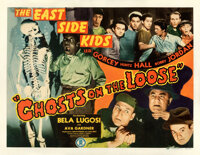 """Ghosts on the Loose (Monogram, 1943). Fine on Paper. Half Sheet (22"""" X 28""""). Comedy"""