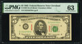 Small Size:Federal Reserve Notes, Fr. 1967-D $5 1963 Specimen Federal Reserve Note. PMG Choice Uncirculated 63.. ...