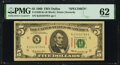 Small Size:Federal Reserve Notes, Fr. 1969-K $5 1969 Specimen Federal Reserve Note. PMG Uncirculated 62.. ...