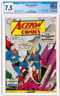 Action Comics #252 (DC, 1959) CGC VF- 7.5 Off-white pages