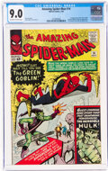 Silver Age (1956-1969):Superhero, The Amazing Spider-Man #14 (Marvel, 1964) CGC VF/NM 9.0 Off-white to white pages....