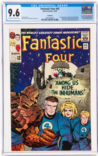 Fantastic Four #45 Northland Pedigree (Marvel, 1965) CGC NM+ 9.6 Off-white to white pages