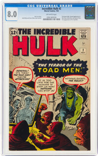 The Incredible Hulk #2 (Marvel, 1962) CGC VF 8.0 Off-white pages