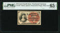Fr. 1257 10¢ Fourth Issue PMG Gem Uncirculated 65 EPQ